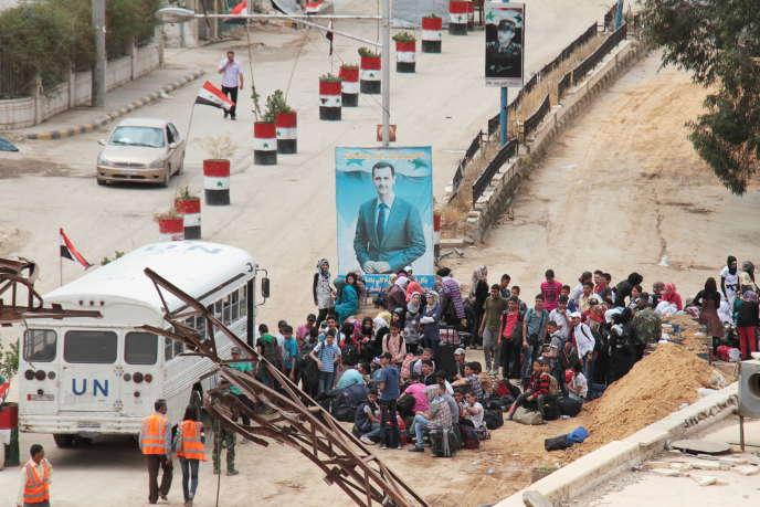 Un point de contrôle des forces loyales à Bachar Al-Assad, le 14mai à Babila, dans la banlieue de Damas.