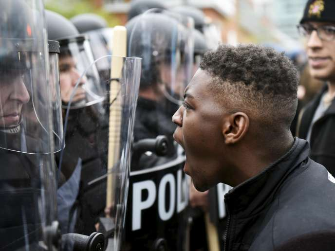 Manifestation après la mort de Freddie Gray, le 25 avril à Baltimore.