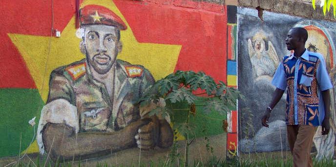 A Ouagadougou, l'effigie de Thomas Sankara.