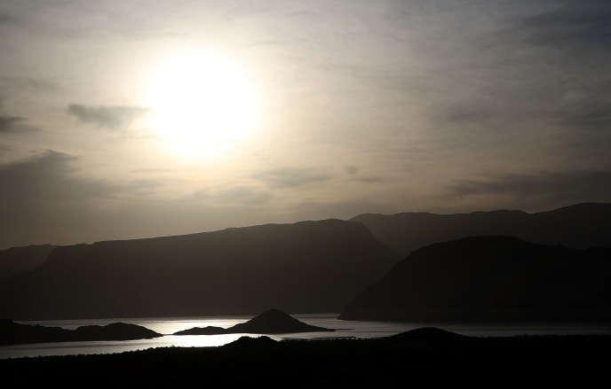 Le lac Mead, dans l'état du Nevada aux Etats-Unis, est à un niveau exceptionnellement bas depuis quelques années. Le 13 mai 2015.