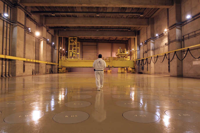 Le centre de stockage de déchets nucléaires de La Hague, à Beaumont-Hague (Manche), en novembre 2011.