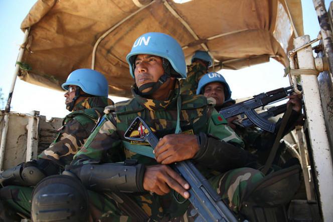 Des casques bleus de la Monusco, en République démocratique du Congo.