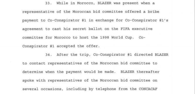 Acte d'accusation de la justice américaine dans le scandale de corruption de la FIFA.