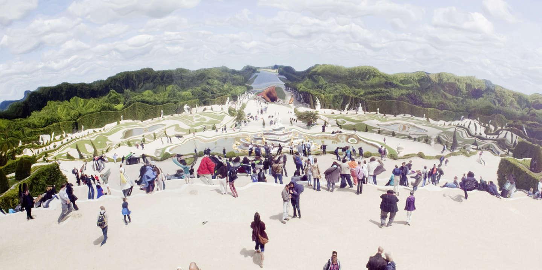 Le reflet des jardins de Versailles, tel qu'on les aperçoit en contemplant les miroirs d'Anish Kapoor.