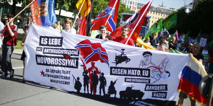 Manifestation à Munich, le 4 juin, contre le sommet du G7 qui se réunit les 7 et 8 juin à Elmau, dans le sud de l'Allemagne.