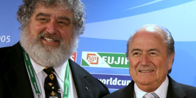 Chuck Blazer et Joseph Blatter, en 2005.