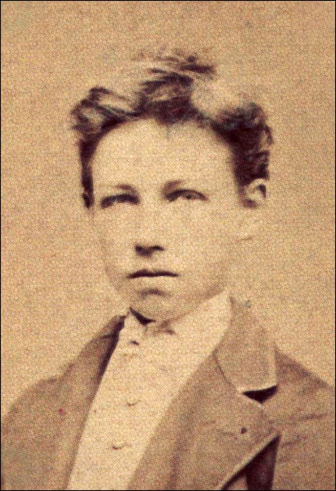 Arthur Rimbaud à 17 ans, photographié par Carjat, en 1871.