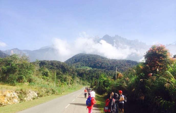 Le mont Kinabalu en Malaisie.