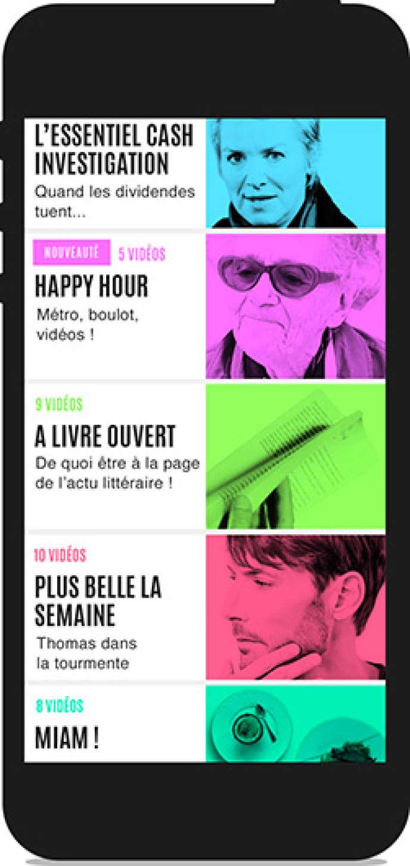 Application France télévisions.