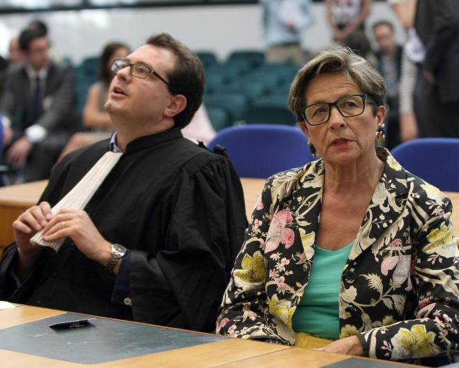 La mère de Vincent Lambert, Viviane Lambert, à la Cour européenne des droits de l'homme, le 5 juin 2015.