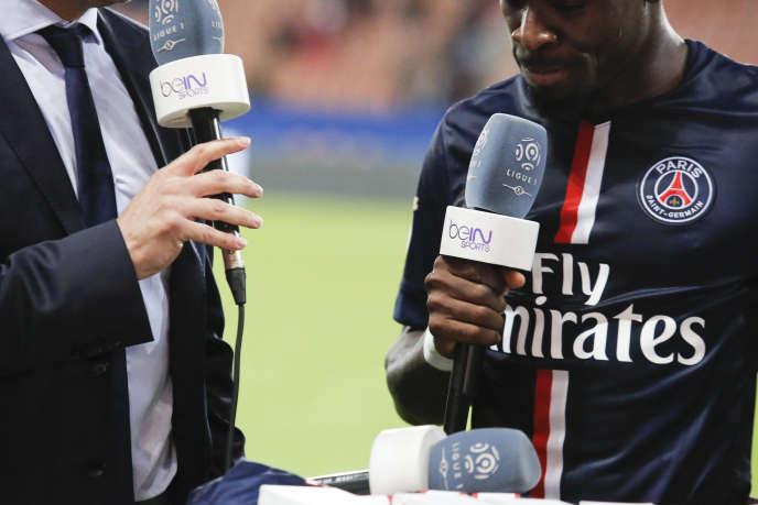 Après un match du PSG, au Parc des Princes, en mai.