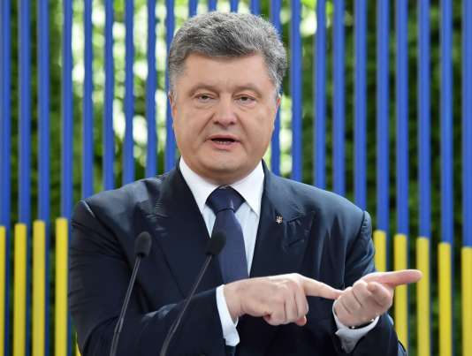 Le président ukrainien Petro Porochenko, lors d'une conférence de presse à Kiev, en juin 2015.