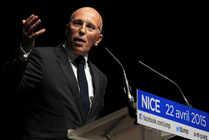 Le député LR Eric Ciotti à Nice, en avril 2015.