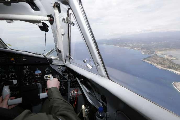 Un vol de patrouille Frontex, le 27 mai.