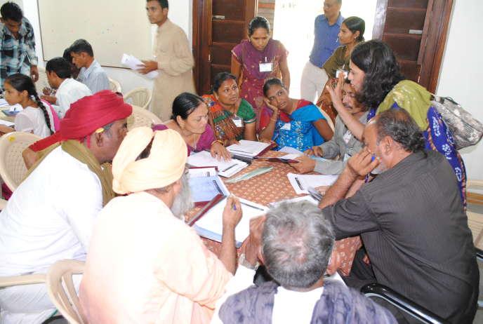 Pendant le débat de 2012 sur la biodiversité, en Inde