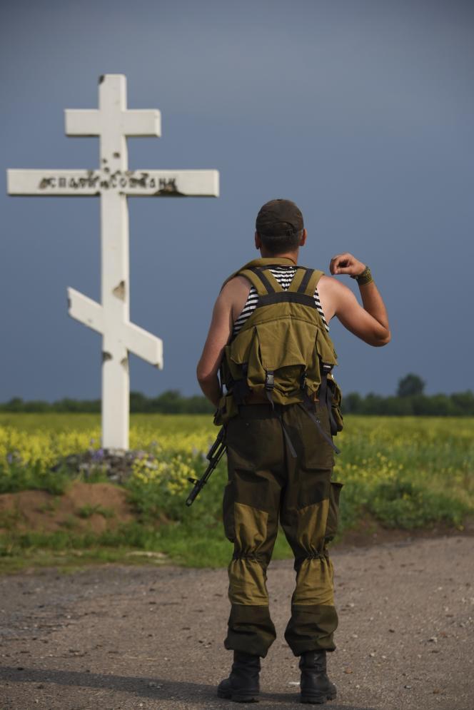 Un rebelle prorusse dans l'est de l'Ukraine.
