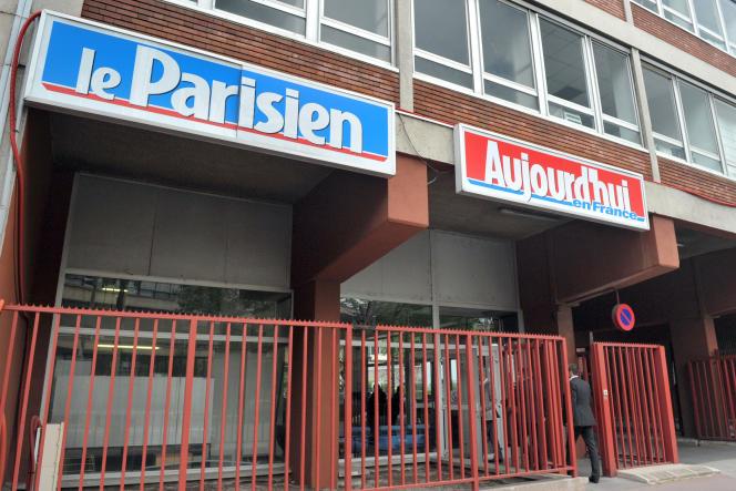 Vue prise le 19 mai 2009 à Saint-Ouen des locaux du quotidien Aujourd'hui en France/Le Parisien, un des titres du groupe de presse Amaury. AFP PHOTO MIGUEL MEDINA