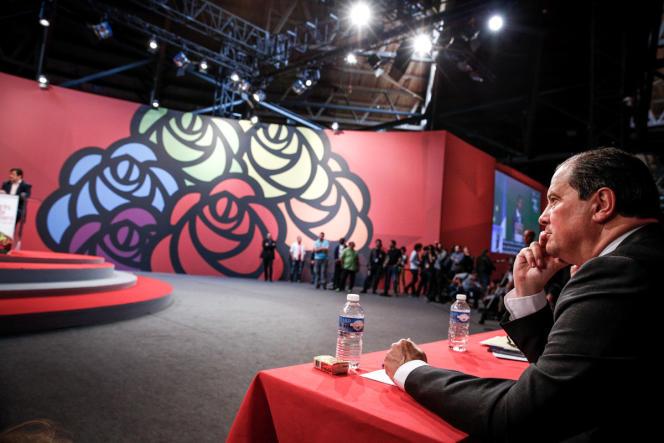 Jean-Christophe Cambadélis, le premier secrétaire du Parti socialiste, lors du 77e congrès du PS à Poitiers, le 6 juin.