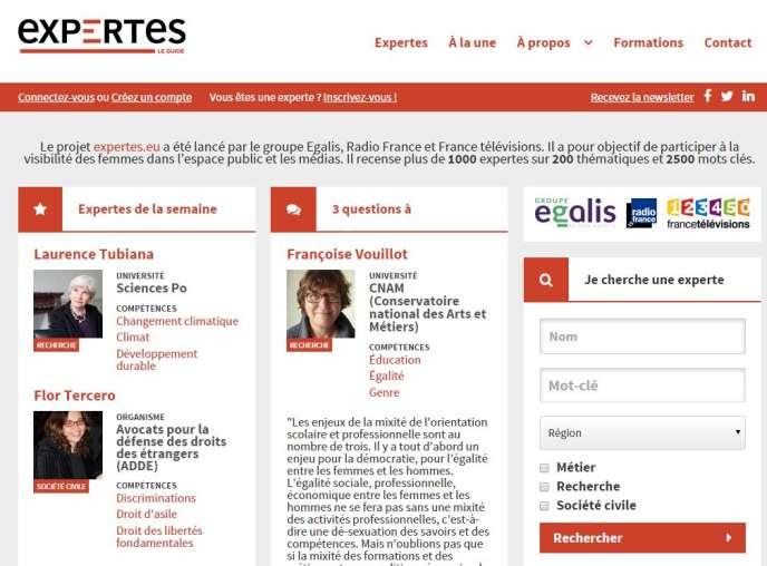 Capture d'écran de la page d'accueil du site lancé lundi 8 juin 2015.