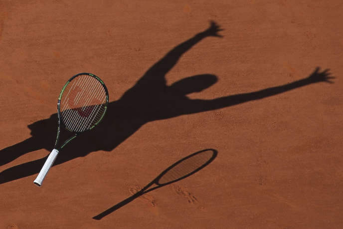 Sur un des courts de Roland-Garros, à Paris, en 2015.