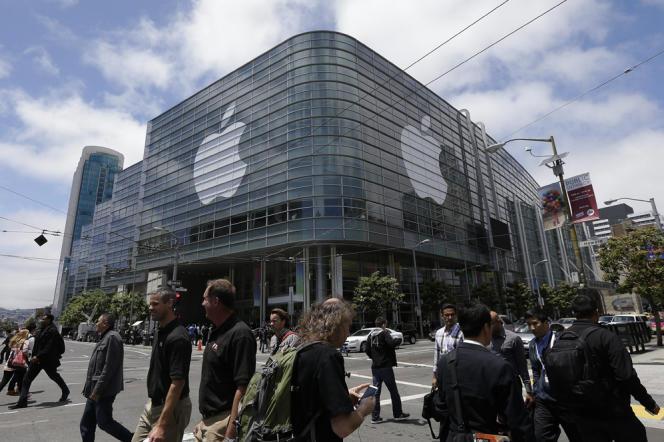 Conférence organisée par Apple à San Francisco en juin 2014.