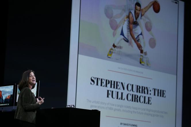 Susan Prescott, vice-présidente d'Apple, présente l'application