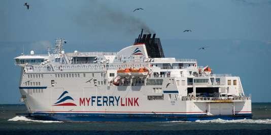 """Le """"Rodin"""", l'un des navires exploités par MyFerryLink, le 8 juin."""
