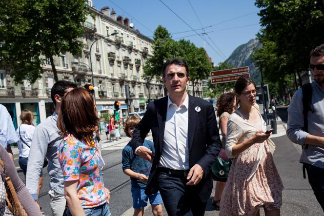 Eric Piolle, maire de Grenoble (EELV), lors de la Journée des Tuiles, samedi 6juin.