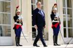 French President Francois Hollande walks in the gardens of the Elysee Palace in Paris, France, June 9, 2015. REUTERS/Charles Platiau