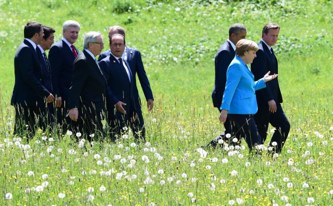 Les chefs d'Etat et de gouvernement du G7, à Elmau (Allemagne), le 8juin.
