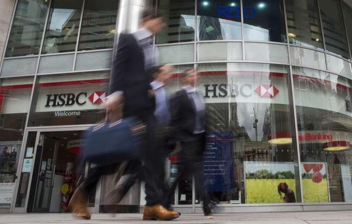 Une banque HSBC à Londres, en juin.