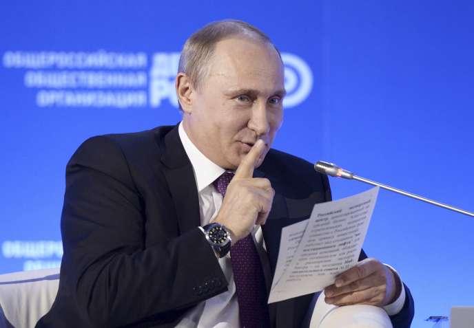 Vladimir Poutine le 26 mai à Moscou.