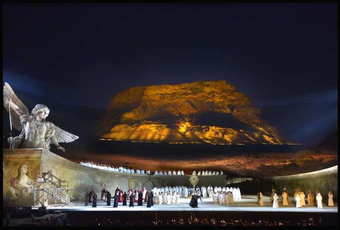 Représentation de la « Tosca » au pied de la forteresse de Massada, le 4 juin 2015.