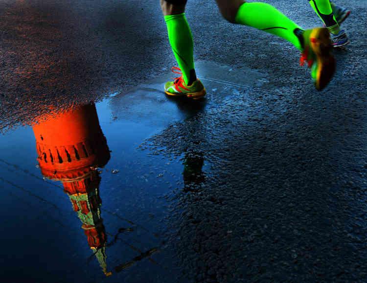 Le marathon de Moscou, entre effort sportif et découverte architecturale.