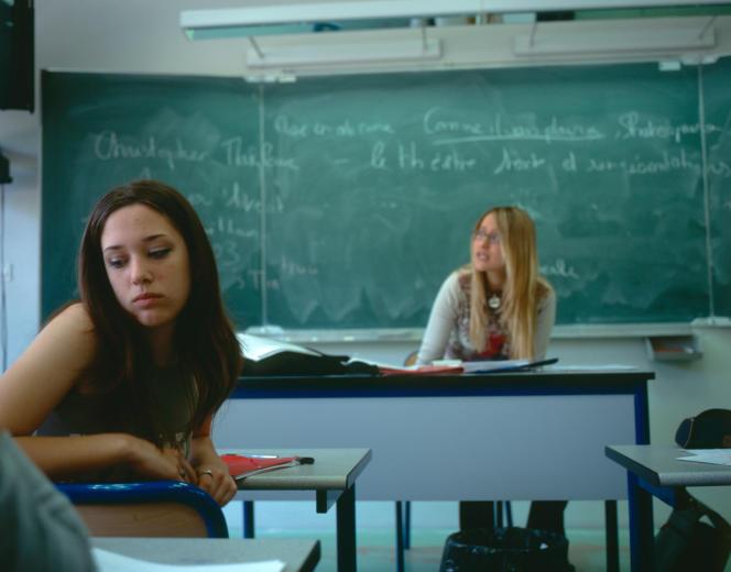 Cours de lettres en classe de seconde au lycée Eugène-Delacroix, à Maison-Alfort (Val-de-Marne).