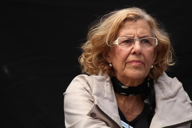 Manuela Carmena, le 19 avril 2015, à Madrid.
