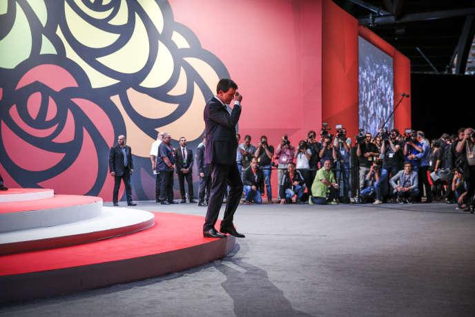 Manuel Valls au 77e congrès du parti socialiste à Poitiers, samedi 6 juin 2015