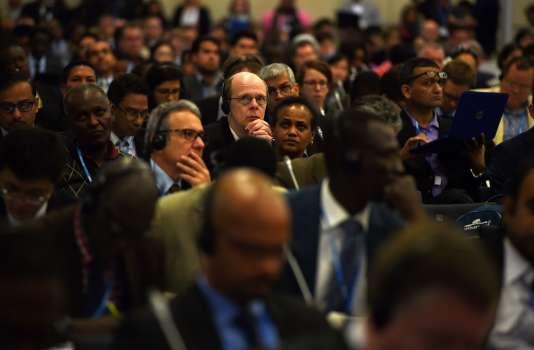 Des délégués de la Convention-cadre des Nations unies sur les changements climatiques (CCNUCC) à Bonn, en Allemagne, le 1er juin.