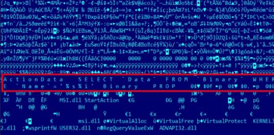 Un extrait du code informatique de Duqu2.