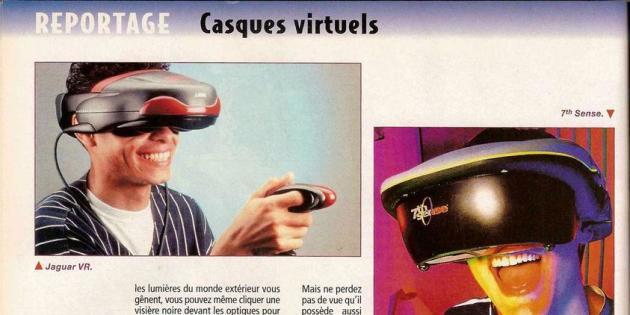 Comparaison d'époque entre trois casques de réalité virtuelle, dans le magazine Gen 4.