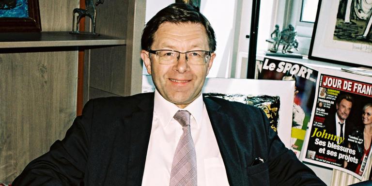 Robert Lafont, patron du groupe de presse Entreprendre, le 29 mai 2015, à Boulogne-Billancourt.