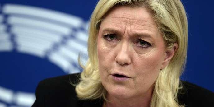 Marine Le Pen, au Parlement européen, à Strasbourg, le 10 juin 2015.