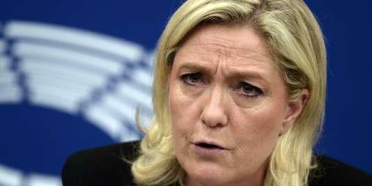 Marine Le Pen au Parlement européen, le 10 juin 2015.