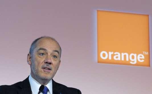 Stéphane Richard, le patron d'Orange, en 2014.