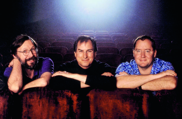 Le trio qui a fait décoller Pixar (de gauche à droite) : Edwin Catmull, Steve Jobs et John Lasseter en 1995.