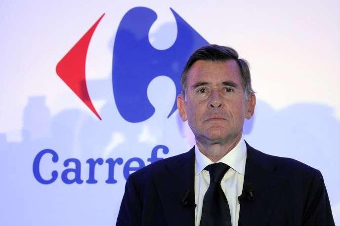 Georges Plassat, PDG de Carrefour, en 2012.
