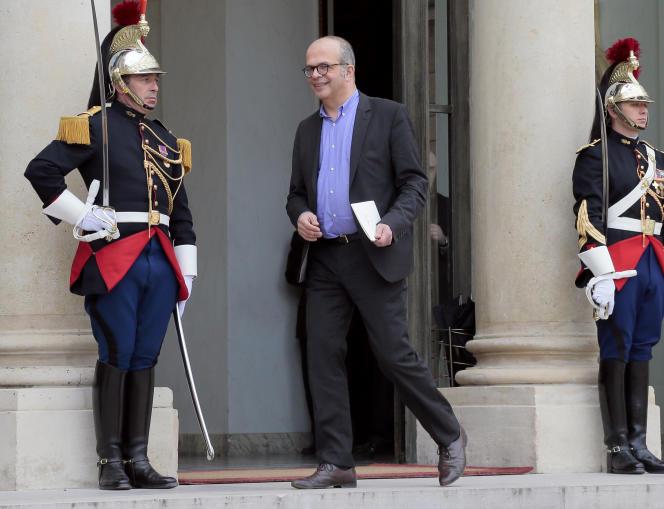David Kessler à l'Elysée, le 18 mars 2014, alors qu'il occupait les fonctions de conseiller à la culture et à la communication auprès du président Hollande.