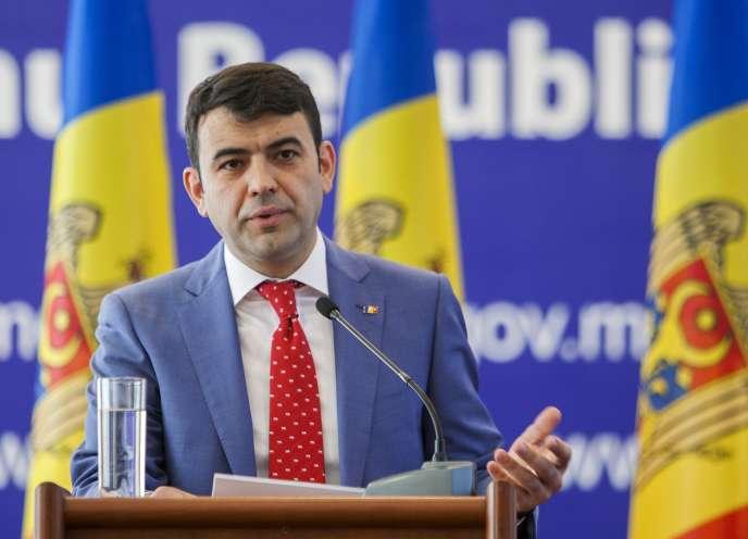 Le premier ministre Chiril Gaburici annonce sa démission le 12 juin, à Chisinau.