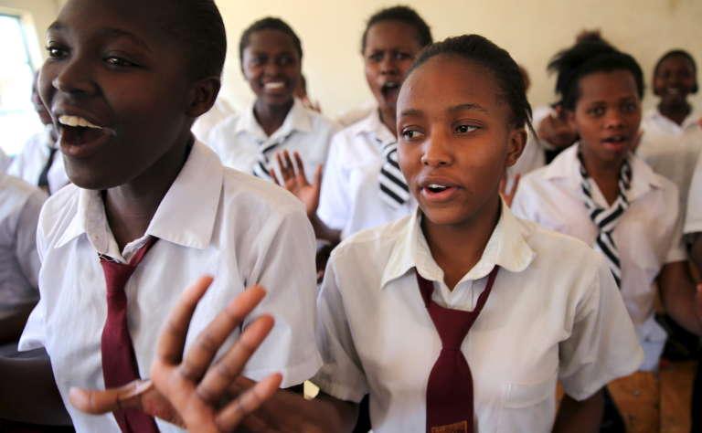 Dans un lycée au Kenya.