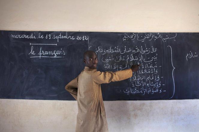 Un professeur, en septembre 2012 à Bamako.